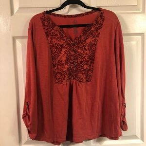 At. Johns Bay 1xl women's shirt red.